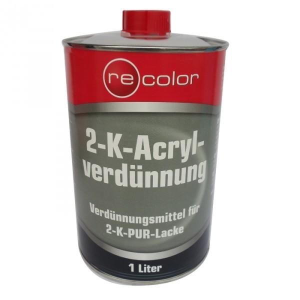 ReColor 2K Acrylverdünnung Verdünner für Klarlack und Acryl-Lacke