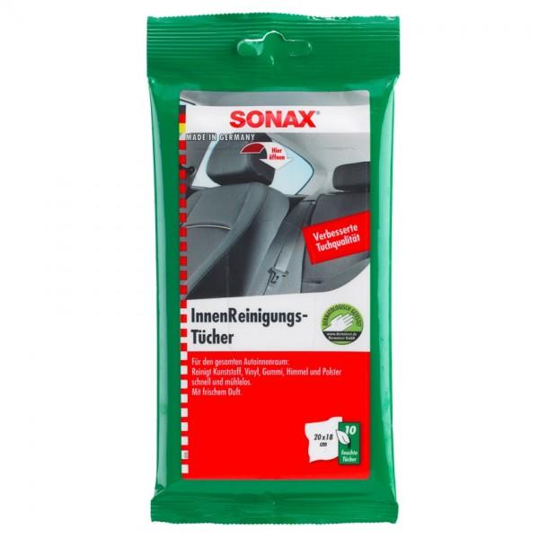 SONAX Feuchttücher zur Reinigung des Autoinnenraum 10 Stück
