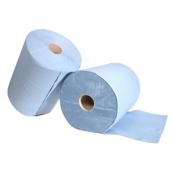 Putzpapier Rolle 2 Stück Papierputztuch 3-Lagig 500 Abrisse 38x34cm