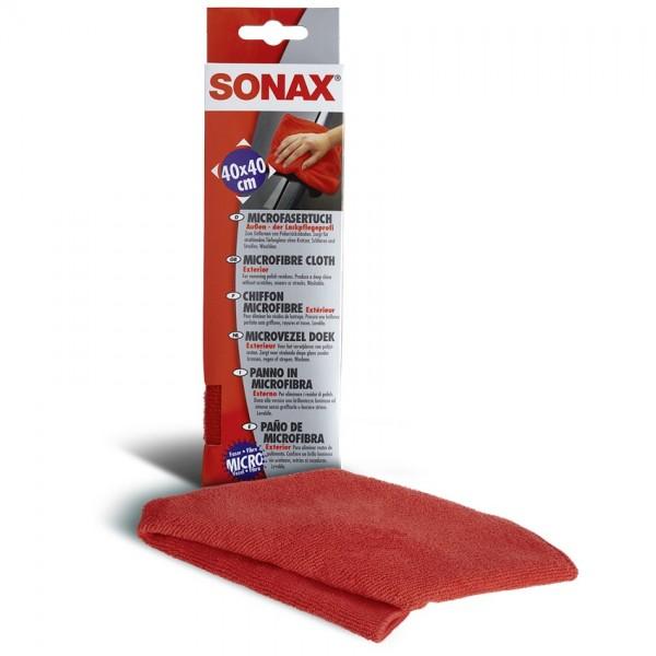 SONAX Microfasertuch Außen für Wachs- und Politurreste