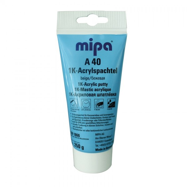 1K Acrylspachtel Mipa A40 Feinspachtel 250g