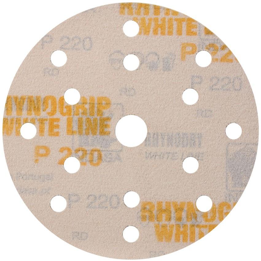 50 St/ück Exzenter Schleifscheiben 8-Loch /Ø 125 mm Korn 320 WHITE LINE