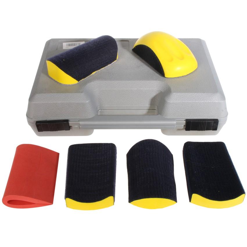 handschleifer set im koffer 6 tlg 150mm klett. Black Bedroom Furniture Sets. Home Design Ideas