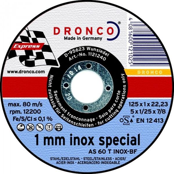 Dronco Trennscheiben Flexscheiben AS 60T für Stahl und Edelstahl  Stärke: 1mm