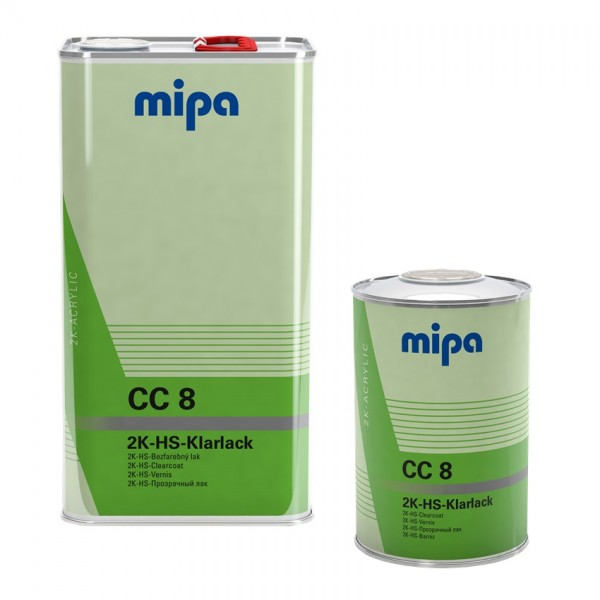 Mipa 2K HS Klarlack CC8 1L Dose oder 5L Kanne