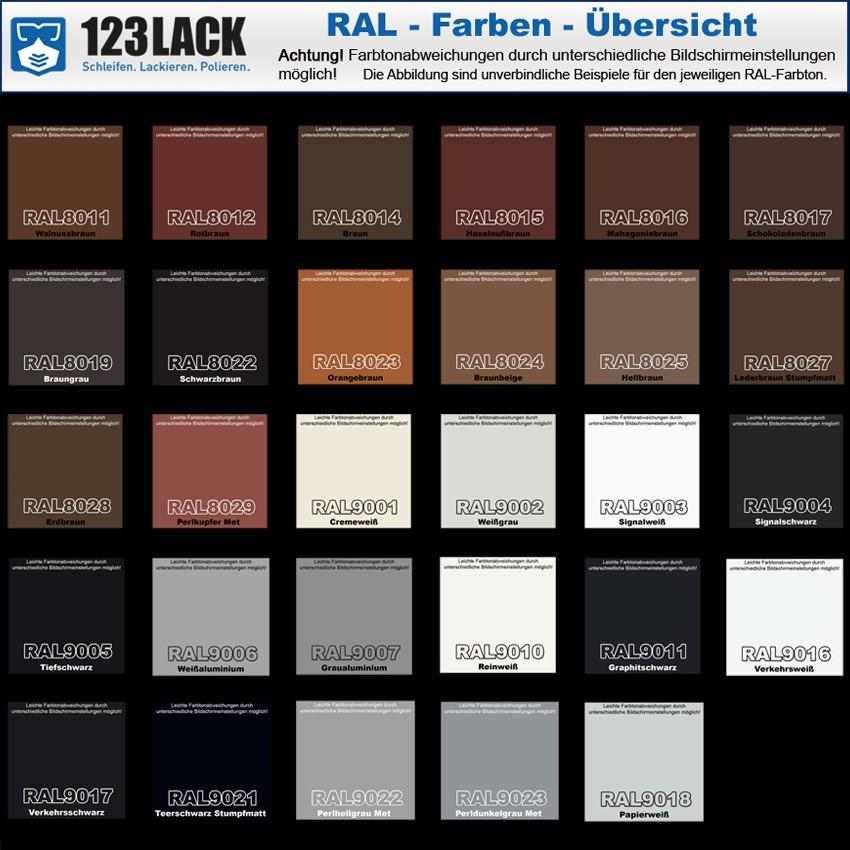 Spraydose 2k Acryllack Alle Ral Farben 400